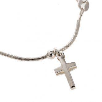 Bracciale Argento 925 rodiato con croce | vendita online su HOLYART