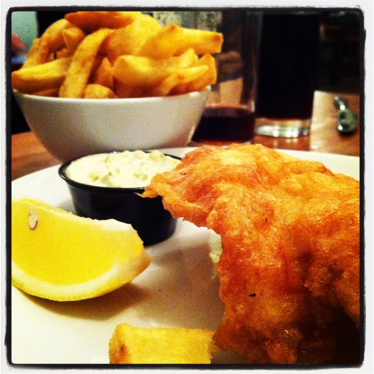 Haddock and chips by Fish Club.