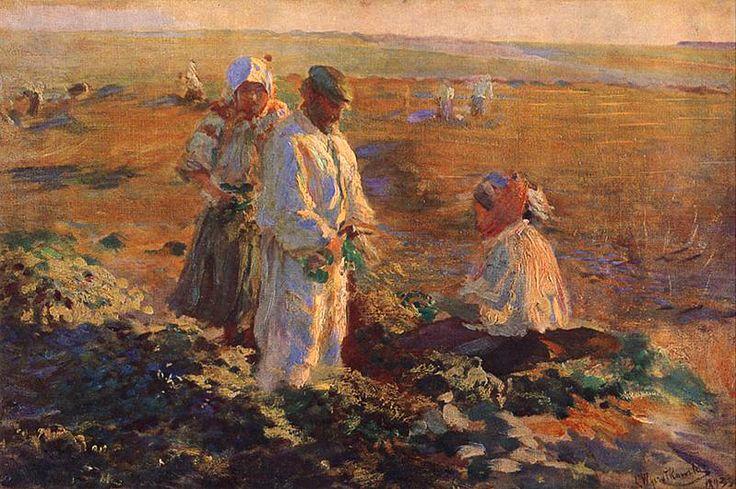 Leon Jan Wyczolkowski - Digging beets (1893)
