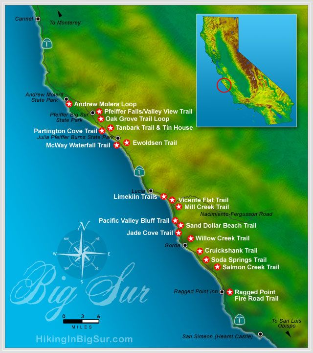 Hiking in Big Sur - Hike Map