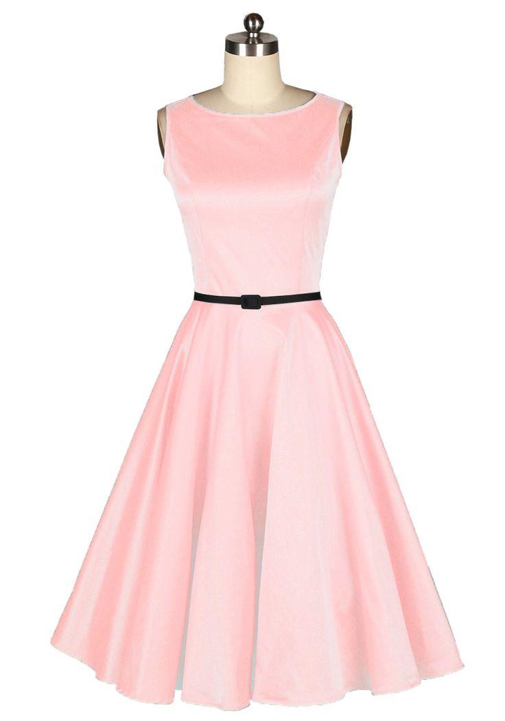 Audrey hepburn,50s style,pin up girl,prom dress,vintage dress,fashion dress,evening dress,party dress,fancy dress,pink dress $59.99