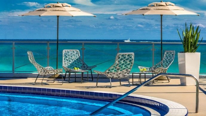 Eden Roc Miami Beach: In true resort fashion, the Eden Roc has not one but four infinity pools to dip your toes in. (Miami Beach, Florida)