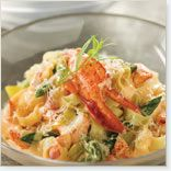 Fettuccini crémeux au homard, aux asperges et au Douanier