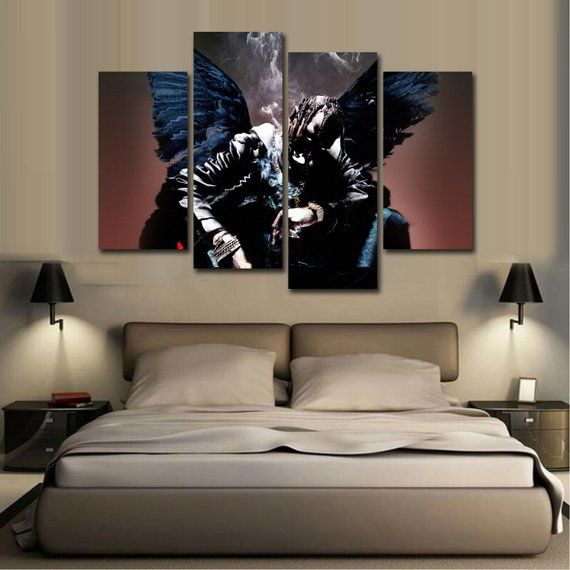 e013da05445d Travis Scott Rapper Canvas Material Giclee Print Painting Picture ...