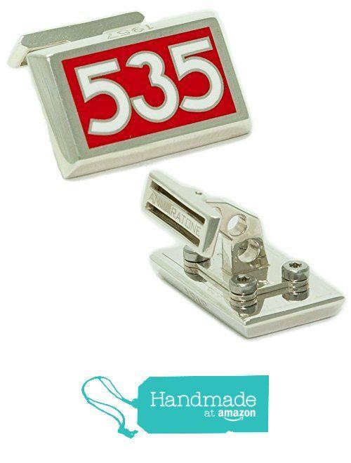 Annaratone Jewelry , Gemelli in Argento 925 , Racing Number 535 , Ferrari 315s vincitrice alla Mille Miglia 1957 , finitura lucida da Annaratone Jewelry https://www.amazon.it/dp/B01M04FAPL/ref=hnd_sw_r_pi_dp_p9q6xbZBPJX6D #handmadeatamazon