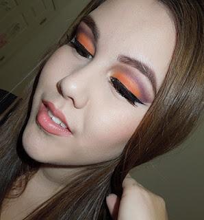 orange and purple cut creaseMakeup Inspiration, Orange Cut, Eye Makeup, Makeup Porn, Summer Httpswwwmakeupbeecom, Cut Crease, Dark Peaches, Purple Cut, Peachy Lips