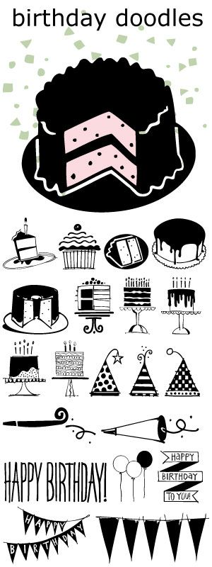 nike waffle trainer shoe Birthday Doodles font   great for cards invitations and scrapbooking all your parties  Coloring book page adults  M larb cker f r vuxna  Do