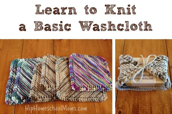 learn to knit a basic washcloth homeschool need to and videos. Black Bedroom Furniture Sets. Home Design Ideas