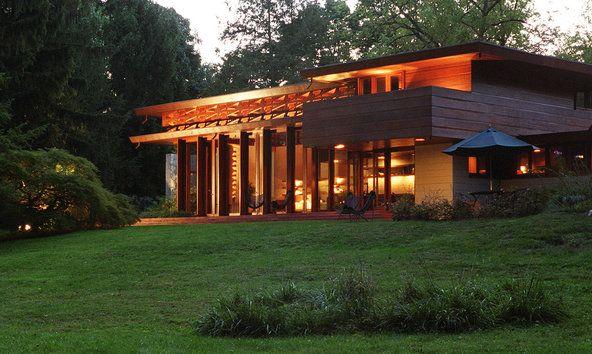 Frank Lloyd Wright Modern Carport : Crystal bridges museum buys a frank lloyd wright house