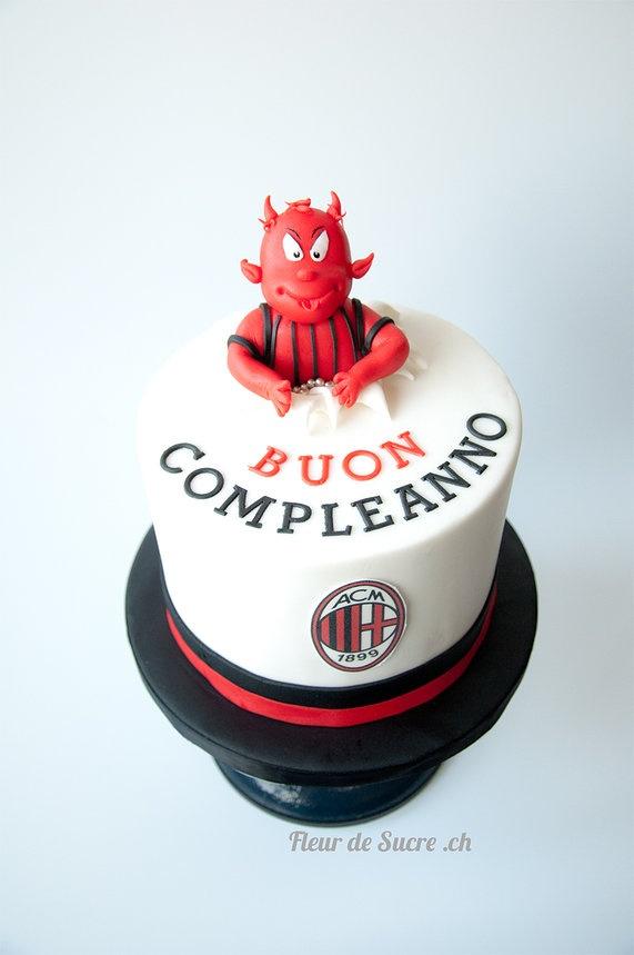 AC Milan Cake by Fleur de Sucre.ch  http://www.fleurdesucre.ch