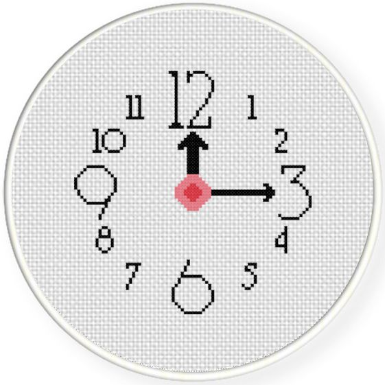 FREE for March 12th 2016 Only - Clock Cross Stitch Pattern