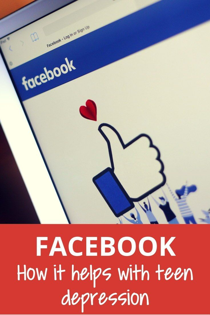 There are some pluses for teens being on Facebook, particularly if they're dealing with depression.