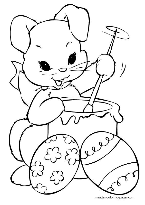 Superb Free Easter Bunny Coloring Pages 71 easter bunny coloring page