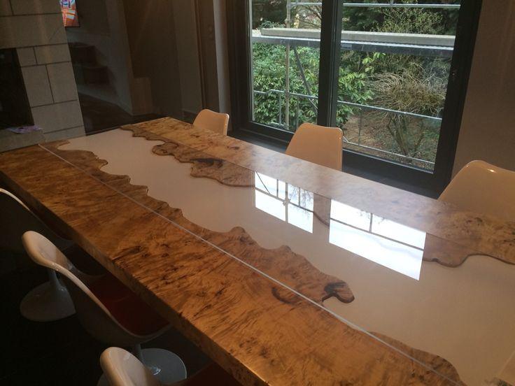 Pappel Maser Tisch