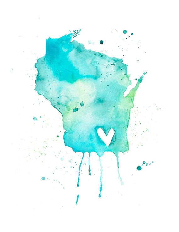 5x7 - Wisconsin Love $12.00