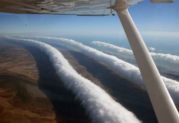 Rare weather phenomena - Morning glory: The Morning Glory cloud is a rare meteorological phenomenon. It has been observed around the world, but no one knows why because it's such a rare occurence. Morning Glories are usually associated with frontal systems crossing central Australia & high pressure in northern Australia.