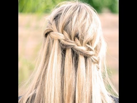 Waterfall braid how-to look