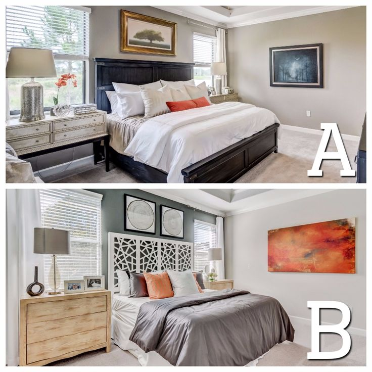 Which #HomeDecor would you prefer in your bedroom?  A. Traditional bed frame with metal accent furniture B. Contemporary headboard with bright accent colors