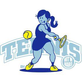 Tennis - Hit'm hard III tc T-Shirt design. #Tshirts #illustration #design #drawing #customprint #POD #CardvibesCatalog #Cardvibes #Tekenaartje #Zazzle #Spreadshirt #Redbubble #Society6