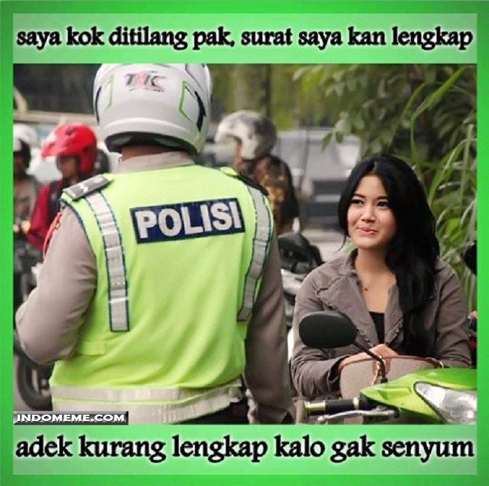 Saya kok ditilang Pak? - #Meme - http://www.indomeme.com/meme/saya-kok-ditilang-pak/