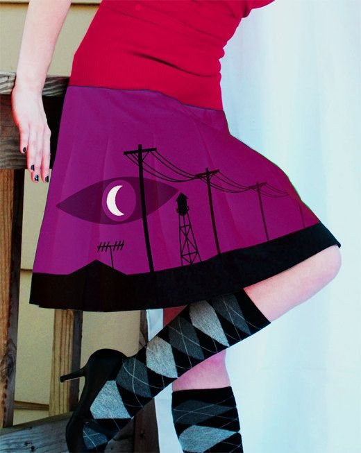Welcome to Night Vale WTNV Skirt by BunicornBoutique on Etsy, $35.00- not available anymore but still super fun!