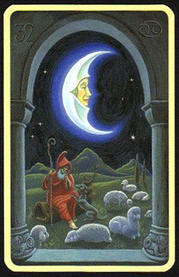 Image result for la luna carta tarot marsella
