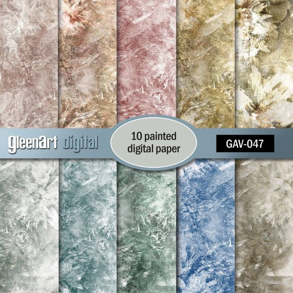 50% Printed digital paper Artists background with by GleenArt