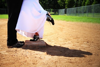 Wedding Engagement Pictures. We met each other playing softball. So this captured us perfectly.