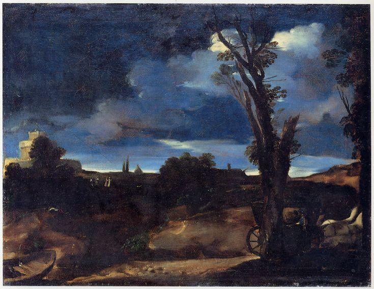 paesaggio al chiaro di luna 1616