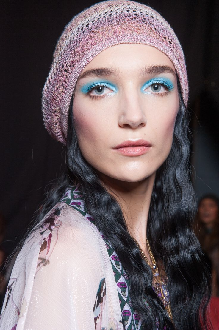 Turquoise shadow at Anna Sui