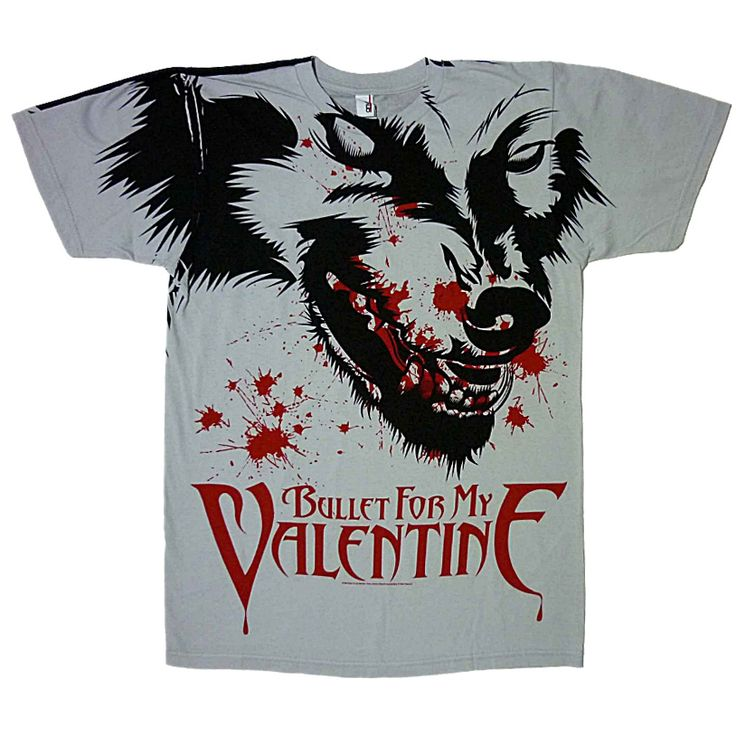 Official Bullet For My Valentine Short Sleeve Shirt Featuring Werewolf All  Over Design On Front And Back.