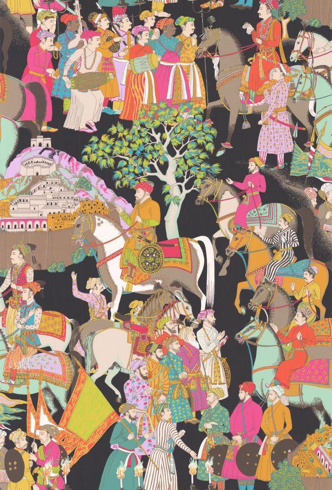 wallpaperdirect.com Dara Noir wallpaper by Manuel Canovas