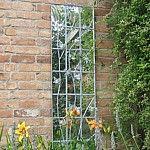 Outdoor Mirror, Galvanised Trellis Acrylic Garden Mirror