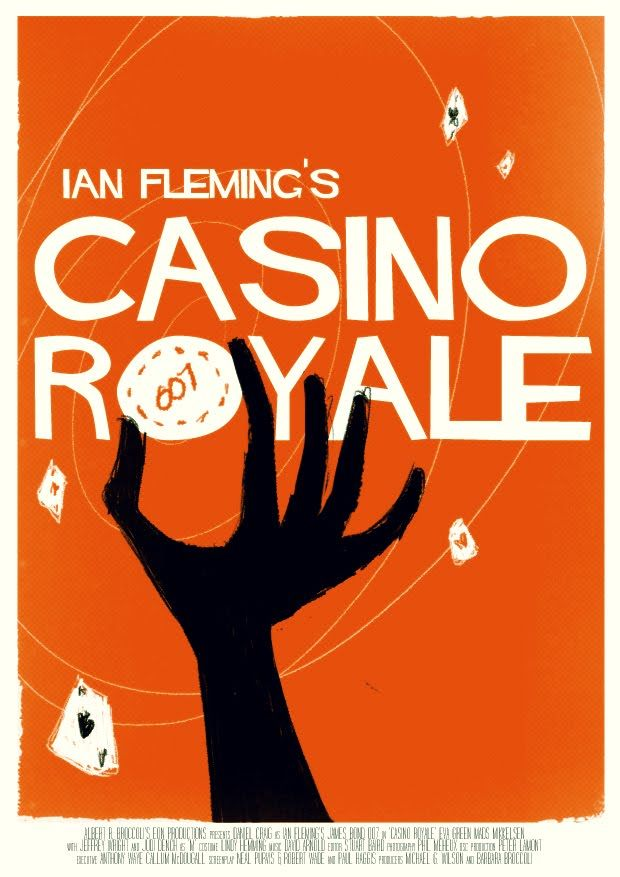 Casino Royale poster. Saul Bass? Away to check. Well, wasn't entirely wrong. Turns out it's a tribute to Saul Bass, designed by a guy called Olly Fisk. ollyfisk.blogspot.co.uk. Nicely done.