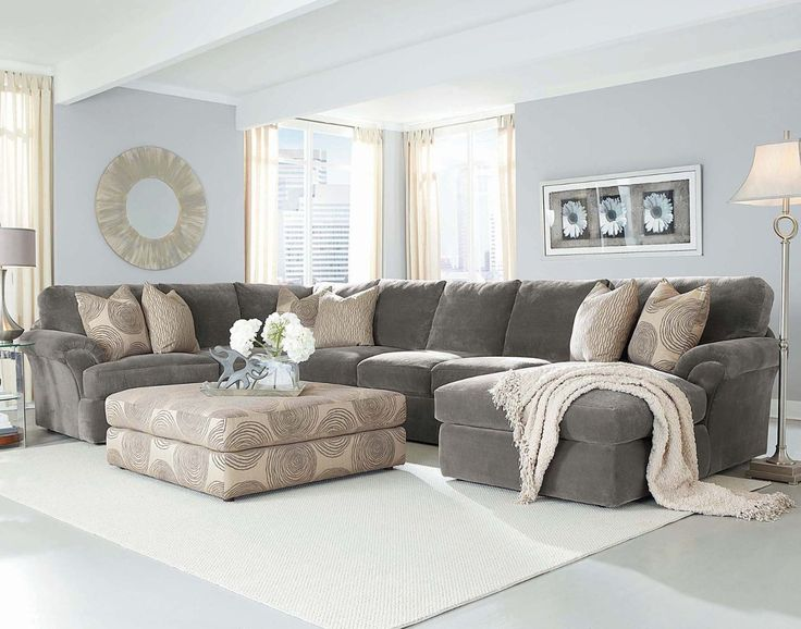 Chelsea Fabric Bradley Large Sectional in Light Home Grey