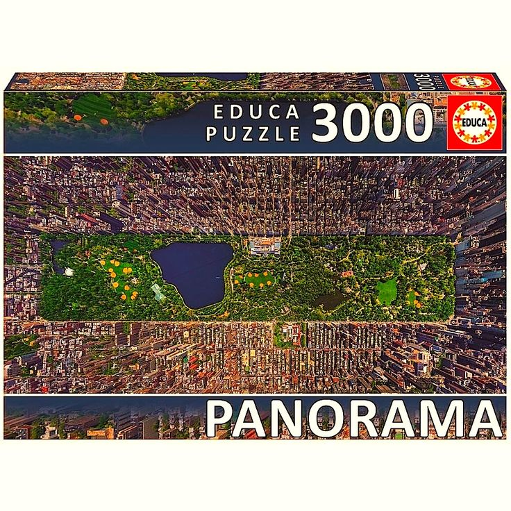 """""""Central Park"""" ~ a 3000 piece (New York City) Panorama jigsaw puzzle by Educa Puzzles."""