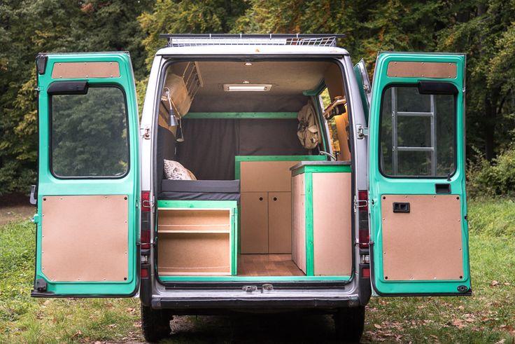 Van turned tiny home