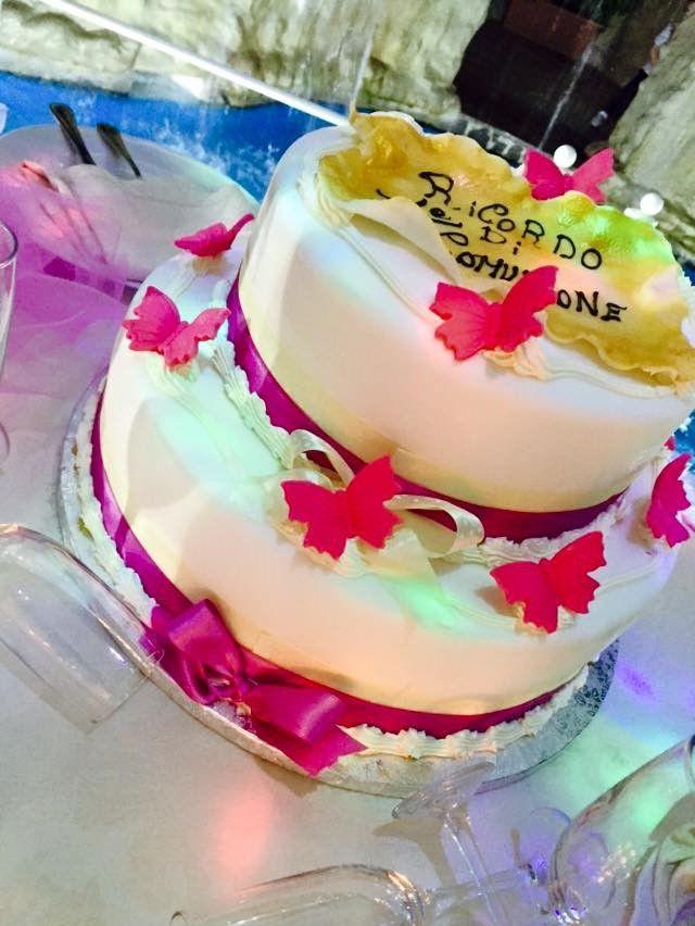 cake farfalline rosa