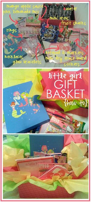 how to put together a pink little girl gift basket for under $20
