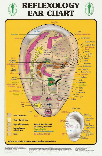 Reflexology Ear Chart: Reflexology is a form of alternative medicine that  is derived from Chinese traditional medicine and refers to structured  pattern of ...