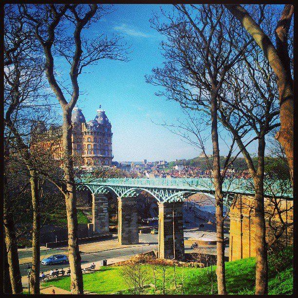 Photo by Cherie Sastro (copyright)  Scarborough (UK) Spa footbridge. 2013