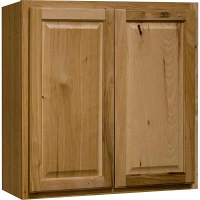 Hampton Bay 30x30x12 In Hampton Wall Cabinet In Natural