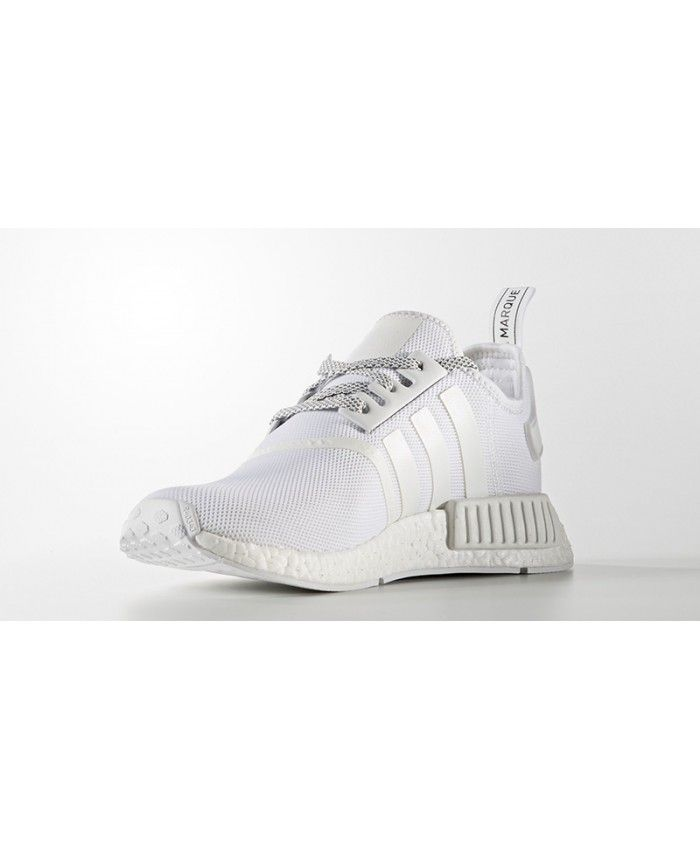 reputable site 69b1a 5b3f4 Cheap Adidas NMD R1 Trainers In Reflective White Sale Clearance