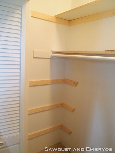 How to build custom shelving.