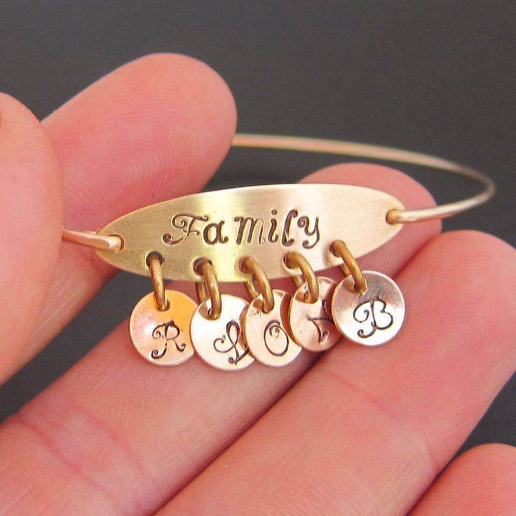 Mothers Day Gift Idea, Birthday Gift for Mom From Daughter & Son, Family Initial Bracelet, Personalized Grandmother Jewelry Grandma Bracelet by FrostedWillow on Etsy https://www.etsy.com/listing/288605139/mothers-day-gift-idea-birthday-gift-for