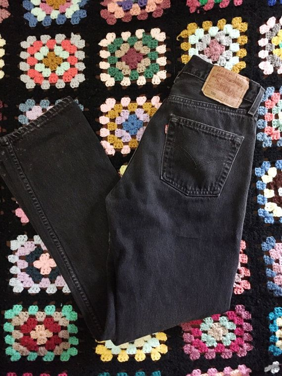 vintage Levis 501s | 29 x 30 waist 26 27 28 | faded black button fly | the springsteen jeans