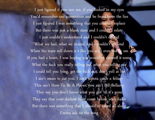 Nicki Minaj's new lyrics for Bed of Lies. I truly hope ...