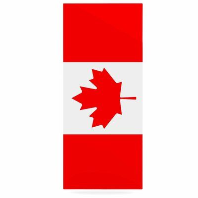 "East Urban Home 'Flag of Canada' Graphic Art Print on Metal Size: 20"" H x 16"" W x 1"" D"