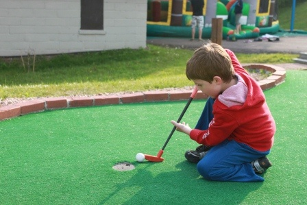 So close to a hole in 1! Try and beat our mini golf course at The Edge Resort and Waterpark  http://www.duluthwaterpark.com/