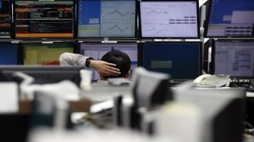 World stock markets and the dollar remained in a sharp sell-off mode on Thursday, having been jolted sharply lower by weak US growth data